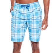 U.S. Polo Assn.® Plaid Cargo Swim Shorts
