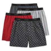 Hanes® 4-Pk. Cotton Woven Boxers