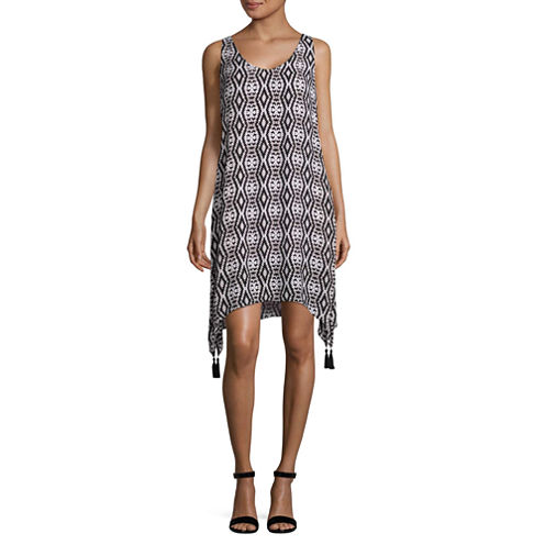 Worthington Sleeveless Geometric Shift Dress
