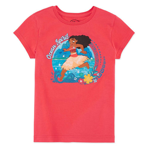 Disney Short Sleeve Moana T-Shirt-Big Kid