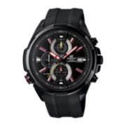 Casio® Mens Black Ion Multifunction Chronograph Watch