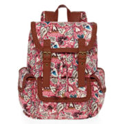 Olsenboye® Heart and Paisley Print Cargo Backpack