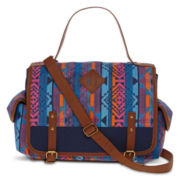 Olsenboye® Aztec Print Top Handle Messenger Bag