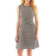 Trulli Sleeveless Striped Dress
