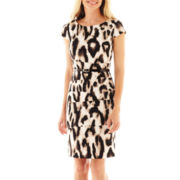 Alyx® Short-Sleeve Animal Print Belted Dress