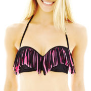 Arizona Fringe Pushup Bandeau Swim Top - Juniors
