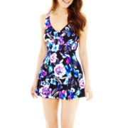 Azul by Maxine of Hollywood® Floral-Print 1-Piece Swimdress