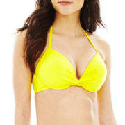 jcp™ Solid Underwire Pushup Bra Swim Top
