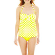 jcp™ Twist Tankini Swim Top or Hipster Bottoms