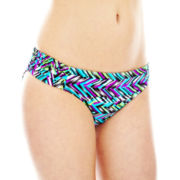 Bisou Bisou® Print Side-Shirred Hipster Swim Bottoms