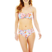 Liz Claiborne® Cinched Bandeau Swim Top or Retro Swim Bottoms