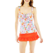 Liz Claiborne Tankini Swim Top or Skirted Swim Bottoms