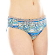 Liz Claiborne® Side-Shirred Hipster Swim Bottoms