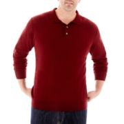 Claiborne Polo Sweater-Big & Tall