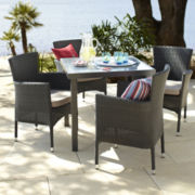 Burke 5-pc. Rattan Outdoor Dining Set