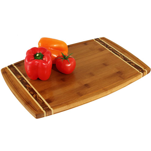 """Totally Bamboo® 18"""" Marbled Cutting Board"""