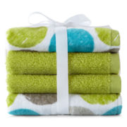 Home Expressions™ Circles 4-pk. Washcloth Set