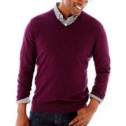 Claiborne® Cotton-Cashmere Sweater