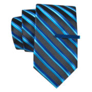 JF J. Ferrar® Celebration Stripe Tie and Tie Bar Set