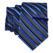 JF J. Ferrar® Celebration Stripe Tie and Tie Bar Set