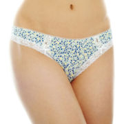 Ambrielle® Lace-Trim Thong Panties