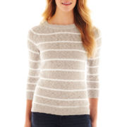 jcp™ Striped Textured Sweater