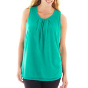 Worthington® Sleeveless Chiffon Mesh Top - Plus