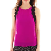 Worthington® Lace-Trimmed Tank Top - Petite