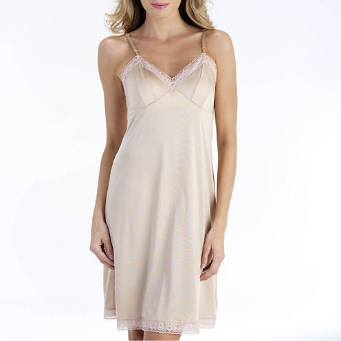 """Vanity Fair® 22"""" Rosette Lace Full Slip - 10103"""