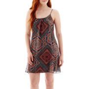 City Triangles® Sleeveless Batik Patchwork Slip Dress