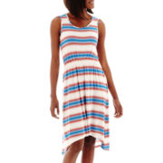 a.n.a® Sleeveless Stripe Hi-Low Dress