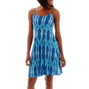 a.n.a® Sleeveless Spaghetti-Strap Pleated Fit-and-Flare Dress