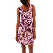 a.n.a® Sleeveless Cross-Front Blouson Dress