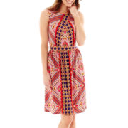 J. Taylor Sleeveless Print Knit Dress