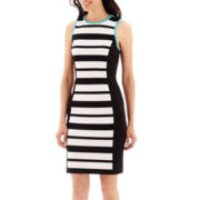 nicole by Nicole Miller® Sleeveless Striped Sheath Dress