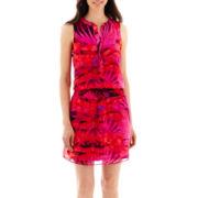 a.n.a® Sleeveless Smocked-Waist Print Dress