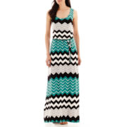 a.n.a® Sleeveless Belted Blouson Maxi Dress