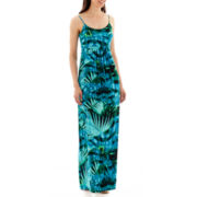 a.n.a® Sleeveless Shirred Empire-Waist Maxi Dress