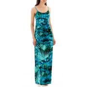 a.n.a® Sleeveless Shirred Empire-Waist Maxi Dress