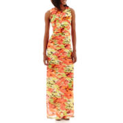 R&K Originals® Sleeveless Shutter-Pleat Maxi Dress