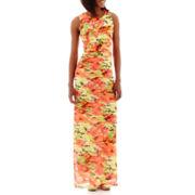 R&K Originals® Sleeveless Shutter-Pleat Maxi Dress