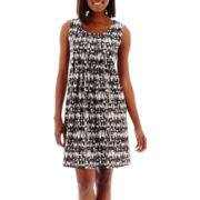 RN Studio by Ronni Nicole Sleeveless Geo Print Shift Dress