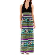 RN Studio by Ronni Nicole Sleeveless Print Maxi Dress