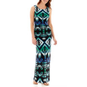 RN Studio by Ronni Nicole Sleeveless Aztec Multi Print Maxi Dress