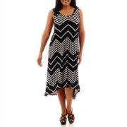 a.n.a® Sleeveless High-Low Sundress - Plus