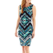 Liz Claiborne® Sleeveless Belted Sheath Dress