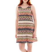 Olsenboye® Sleeveless Aztec Print Slip Dress