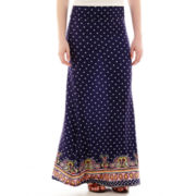 Olsenboye® Bordered Knit Maxi Skirt