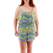 Arizona Sleeveless Print Romper - Plus