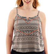 Arizona Sleeveless Aztec Print Woven Top - Plus
